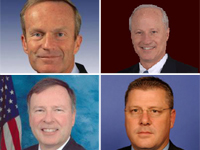 (clockwise from upper left) Reps. Akin, Coffman, Crawford & Lamborn