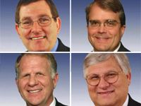 (clockwise from upper left) Reps. Burgess, Culberson, Marchant & Poe