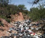 Trash on the southern border